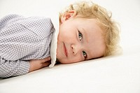 Portrait of Baby Girl Lying Down (thumbnail)