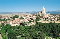 Spain, Castilla leon, Segovia, City, Tower, Building, Buildings