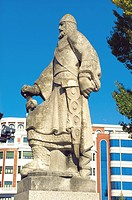 Statue of Alvar Fa&#241;ez. Burgos. Spain