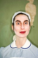 Head shot of stylised nurse in uniform