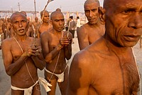 A group of Brahmins en route toward the Sacred Ganges for their Holy Bath