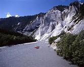 sports, spare time, rafting, Riber rafting, boats, adventures, river, Vorder Rhine, Rhine, Rhine gulch, scenery, lands