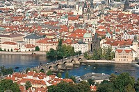 Aerial view, Aerial views, Architecture, Boat, Boats, Building, Buildings, Charles Bridge, Cities, City, City planning