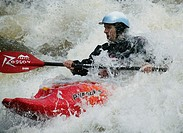 River rafting in kayaking