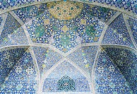ceiling of a mosque in Isfahan, Iran