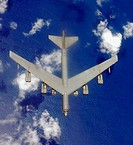 A B-52 Stratofortress is on its way to a combat mission over Afghanistan. The B-52s provide close-air support for U.S. and coalition forces in support...