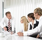 Businesspeople having meeting in office
