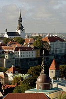 View from St. Olaf church. Tallinn. Estonia.