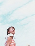Woman and sky