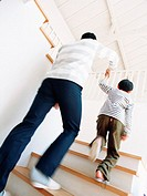 Image of going up stairs