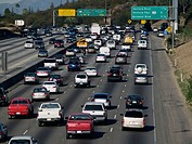 Highway traffic in Los Angeles, California
