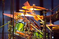Drums during concert, motion blur