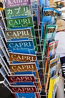 Guide book stand. Capri, Italy