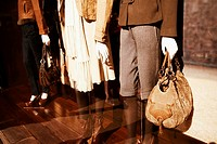 Close-up of mannequins in a clothing store