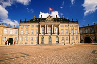 Facade of a palace, Amalienborg Palace, Copenhagen, Denmark