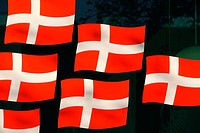 Close-up of Danish flags, Denmark