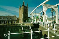 Drawbridge in a city, Zierikzee, Netherlands