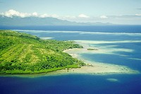 High angle view of an island, Viti Levu, Fiji