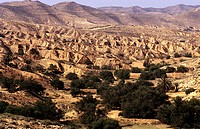africa, tunisia, landscape near matmata