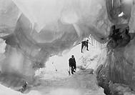 italia, ghiacciaio del monte bianco, anni trenta