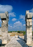 View from the Warriors Temple with the Chac-Mool (UNESCO World Heritage). Chichen Itza. Yucatan. Mexico.