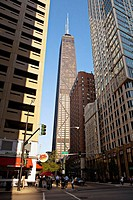 ILLINOIS   Chicago   John Hancock Center viewed from Rush Street, north side
