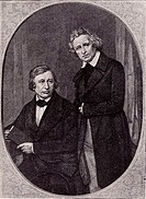 Wilhelm Carl Grimm 1786-1859 left, and Jacob Ludwig Carl Grimm 1786-1859 right, German philologists and folklorists  The English speaking world knows ...