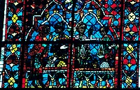 Stain glass window from the cathedral of Chartres, X111 century