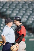 Catcher arguing with Umpire