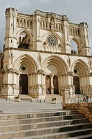 Front of cathedral (12th century), Cuenca. Castilla-La Mancha, Spain