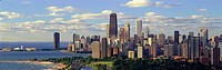 ´Panoramic view of Lake Michigan and Lincoln Park, Chicago, IL´