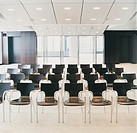 Large Group of Chairs in a Conference Room