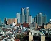 Travel, Japan, TOKYO, Shinjuku skyline,