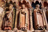 Portico de la Majestad. Collegiate church of Santa Maria la Mayor (12th-13th Centuries). Toro. Zamora province. Castilla y Leon. Spain