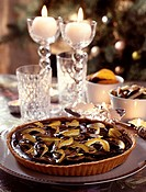 chocolate and citrus peel tart topic: party cooking
