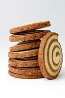 shortbread swirl cookies