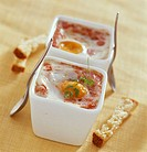coddled egg with tomato