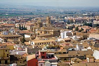 City overview with San Jerónimo Monastery. Granada. Andalusia. Spain
