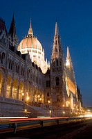 Parliament Building by Night, Budapest, Hungary