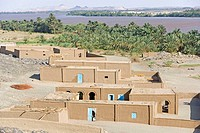 Sudan, Eastern Sahara, Sesebi, village built in adobe