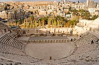 Jordan, Amman, Roman theater built by emperor Marc-Aurele
