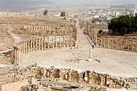 Jordan, Jerash, view from temple of Zeus