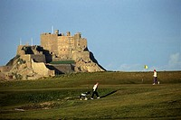Channel Islands, Jersey, Montorgueil castle, golf
