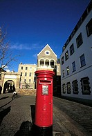 Channel Islands, Jersey, St Helier museum, Post pillar box (thumbnail)