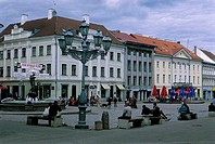 Estonia, Tartu, City Hall square