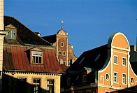 Latvia, Old Town, facades