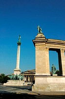 Hungary, Budapest, Millenary Monument (thumbnail)