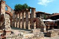Bulgaria, Nesebar, ruins of the Ancient City Church