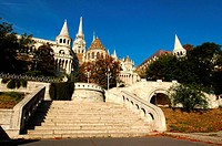 Hungary, Budapest, Fishermen's Bastion and Matthias Church