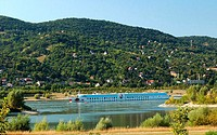 Hungary, near Visegrad, Danube loop